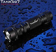 Tank007® LED Flashlights/Torch / Handheld Flashlights/Torch LED 500 Lumens 5 Mode Cree XM-L T6 18650 / 16340Waterproof / Rechargeable /
