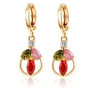 Woman's Fashion Gold Color Zirconia Ear Clip