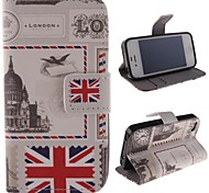 Stamp Design Restoring Ancient Ways PU Full Body Case with Stand with Card Slot for iPhone 4/4S