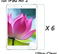 [6-Pack] Professional High Transparency LCD Crystal Ultra-Clear Screen Protector for iPad Air 2