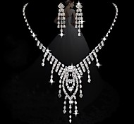 diamante de la moda de las mujeres conjuntos de corazón: collar y pendientes (venta juicio; acciones: 1)