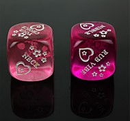 Spoof Fun Dice - Purple + Pink (2 PCS)