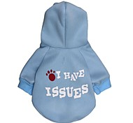 Cat / Dog Hoodie Blue Dog Clothes Winter Letter & Number