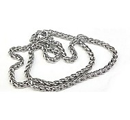 Men's Fashion Simple Titanium Steel Chain Necklace