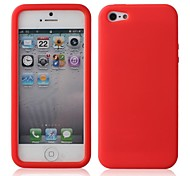 Solid Color Silicon Case Soft Case for iPhone 5/5S(Assorted Color)
