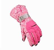 Full-finger Gloves / Winter Gloves Women's Keep Warm / Anti-skidding Ski & Snowboard / Cycling/Bike Pink Nylon / Wool