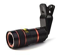 8x 18 mm Monocular BAK4 Tamaño Compacto 250m/1000m Revestimiento Múltiple Completo Normal Negro