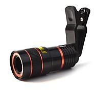 8x18 Black Universal 8X Photo Telescope / Microscope Lens for Phone 4S / 5 / 5c / 6 / 6 plus / Ipad / Ipad MINI