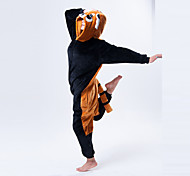 Cute Raccon Brown and Black Polar Fleece Kigurumi Pajamas Cartoon Sleepwear Animal Halloween Costume