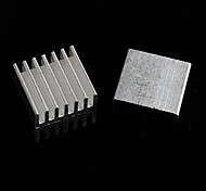 Aluminum Heat Sink / Electronic Radiator / Cooling Aluminum Block - Silver (14 x 14 x 6mm)  (10Pcs)
