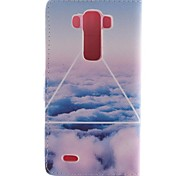 Only Beautiful Cloud Design PU Leather Full Body Case with Stand and Card Slot for LG G3