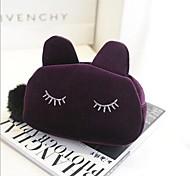 Multi-function Cartoon Cat Shaped Wool Cosmetics Storage Bag