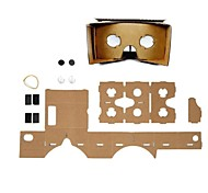 DIY Cardboard Virtual Reality 3D Glasses for iPhone 6 / Samsung Galaxy S5/S4/LG G3/G2/ Google Nexus 5 / Nexus 4