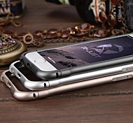RJUST  Magnetic Clasp Design Arc Brushed Aluminum Border for iPhone 6  4.7Inch (Assorted Colors)
