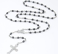 Z&X®  European Style Cross Alloy Strands Pendant Long Necklace