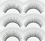 New 3 Pairs European Color Natural Black Long False Eyelashes Daily Lovely Eyelash Eye Lashes