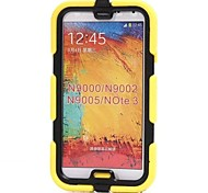 Waterproof Tough Defender Series Rugged Impact Back Cover with Detachable Clip  for Galaxy note3(Assorted Colors)