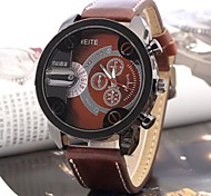 Men's Leather Band Quartz Analog Sports Watch (Assorted Colors) Cool Watch Unique Watch