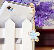1pcs de la flor de la moda rhinestone 3.5mm tapa anti-polvo para el iphone y otros 6 (colores aleatorios)