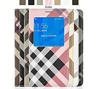 angibabe prüft Muster Flip Ledertasche mit Sichtfenster für Samsung Galaxy alpha g8508s 4,7 Zoll (Farbe sortiert)