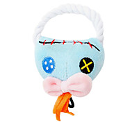 Zombie Shaped Plush Squeaking Toys With Rope For Pet Dogs