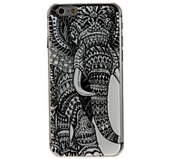Kinston Left Side Of the Elephant Pattern PC Hard Case for iPhone 6 Plus