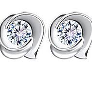925 Sterling Silver Vintage Rose Stud Earrings