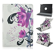 Fashion Painted Flowers PU Tablet Protect Case with Stand for iPad Air 2