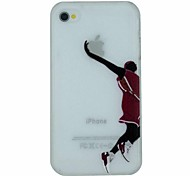 Basketball Series of Slam Dunk Pattern PC Hard Transparent Back Cover Case for iPhone 4/4S