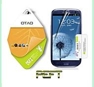 utilizar japón nanomaterial mascota curvada protector de la pantalla protectora guardia para Samsung Galaxy S3 i9300 (PEFT)