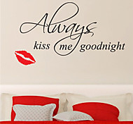 Wall Stickers Kiss Goodnight Quotes Home Decoration JiuBai™ Wall Decal