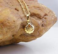 18k ouro pingente shell chapeado