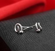 Women's Classic Sterling Silver Stud Earrings Ear Nail Fashion Earrings