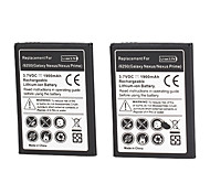 3.7v 2600mAh Cell Phone Battery for Samsung Galaxy Note i9220 GT-N7000 with Charger(2 Batteries+1 Charger)
