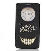 Cartoon Crazy Teeth Pattern PU Leather Case with Screen Protector,Stand and Dust Plug for LG G3