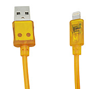 C-Cable 1.5M 4.92FT USB2.0 Male to Apple 8pin Male glowing spring data cable for iPad4 iPhone5 5s