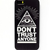Black Triangle Eyes Pattern Hard Case for iPhone 6