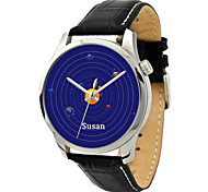 Personalized Mother's Day Gift JUST2YOU Citizen Movement Blue  Solar System Watch  in Steel  Case