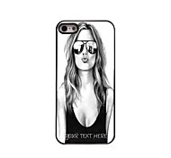 Personalized Phone Case - Beautiful Girl Design Metal Case for iPhone 5/5S