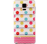 Wavy Color Wave Point Pattern PC Cover for Samsung Note 4