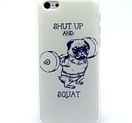 Weightlifting Dog Pattern Soft Case for iPhone 5C