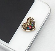 1Pcs Spray Paint Diamonds Loving 1cm Buttons Stickers for iPhone and Others