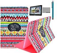Coco Fun® patrón alfombra roja tribal del caso del soporte del tirón del cuero de la PU con el cine y la aguja para el samsung galaxy tab 2 10.1