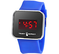 Men's Touch Screen Silicone Band LED Digital Wrist Watch (Assorted Colors)