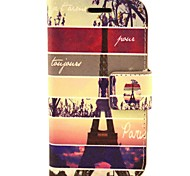 Paris Tower PU Leather Hard Case with Card Slots for Samsung Galaxy Trend Duos S7562