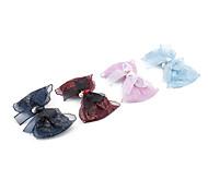 1PC Korean Gilt Bowknot and Lace Barrette(Random Color)