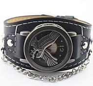 Men's Round Dial Eagle PU Band Fashion Quartz  Watch (Assorted Colors)