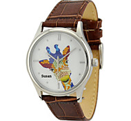 Personalized Mother's Day Gift JUST2YOU Citizen Movement The Giraffe Watch  in Steel  Case