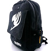 Fairy Tail Black Gray Canvas Cosplay Backpack Bag