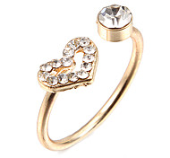Fashion Hollow Heart Golden Alloy Band Rings(1 Pc)